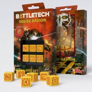 Q-Workshop   Q-Workshop Dice Battletech House Davion D6 Dice set (6) - SBDA31 - 5907699493111