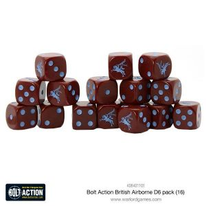 Warlord Games Bolt Action  Bolt Action Books & Accessories British Airborne D6 Dice (16) - 408401101 - 5060393708629