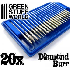Green Stuff World   Green Stuff World Tools Diamond Burr Set with 20 tips - 8436554364466ES - 8436554364466