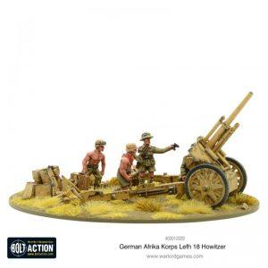 Warlord Games Bolt Action  Germany (BA) Afrika Korps LeFH 18 10.5cm Medium Artillery - 403012029 - 5060572502161