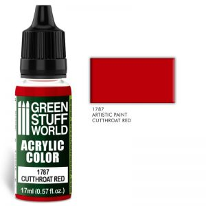Green Stuff World   Acrylic Paints Acrylic Color CUTTHROAT RED - 8436574501469ES - 8436574501469