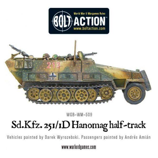 Warlord Games Bolt Action  Germany (BA) Sd.Kfz 251/1 ausf D halftrack Hanomag (plastic) - 402012003 - 5060393702016