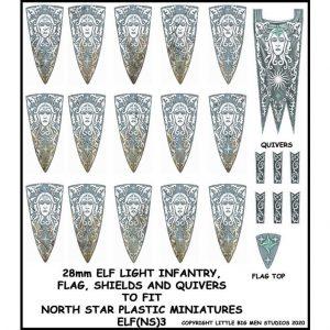 North Star Oathmark  Oathmark Elf Light Infantry Banner & Shields - ELF(NS)3 -