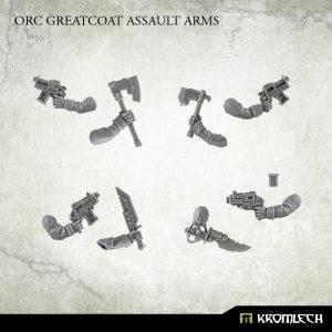 Kromlech   Orc Conversion Parts Orc Greatcoat Assault Arms (5) - KRCB006 - 5902216117204