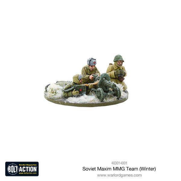 Warlord Games Bolt Action  Soviet Union (BA) Soviet Maxim MMG Team (Winter) - 403014001 - 5060393708247