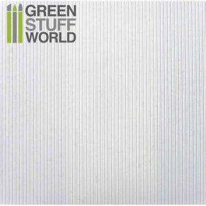 Green Stuff World   Plasticard ABS Plasticard - CORRUGATED 0.5mm Textured Sheet - A4 - 8436554361052ES - 8436554361052