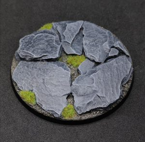 Baker Bases   Rocky Outcrop Rocky: 90mm Round Bases (1) - CB-RK-01-90M - CB-RK-01-90M