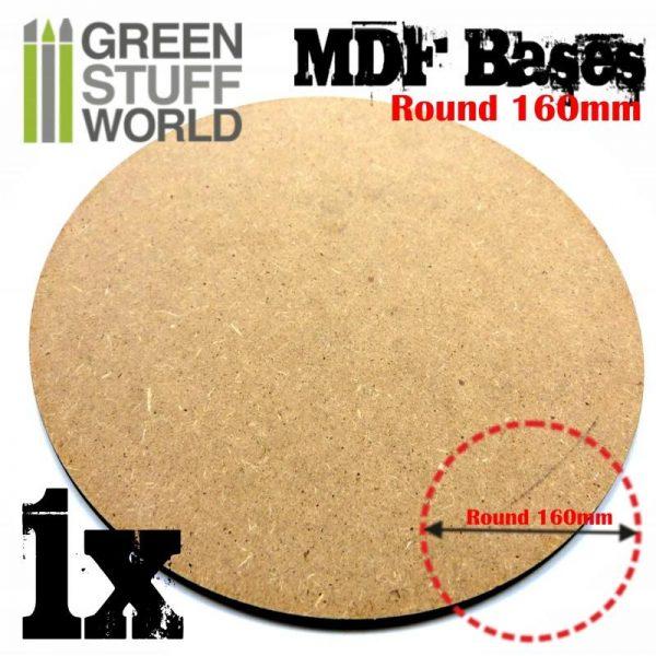 Green Stuff World   Plain Bases MDF Bases - Round 160mm - 8436574503425ES - 8436574503425