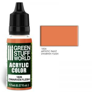 Green Stuff World   Acrylic Paints Acrylic Color DWARVEN FLESH - 8436574501858ES - 8436574501858