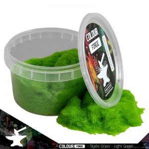 The Colour Forge   Sand & Flock Static Grass - Light Green (275ml) - TCF-BAS-023 - 5060843101062