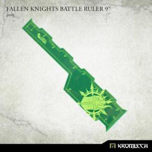Kromlech   Tapes & Measuring Sticks Fallen Knights Battle Ruler 9in (Green) - KRGA094 - 5908291070335