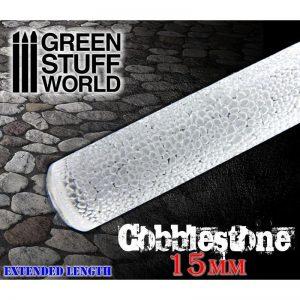 Green Stuff World   Rolling Pins Rolling Pin COBBLESTONE 15mm - 8436554368839ES - 8436554368839