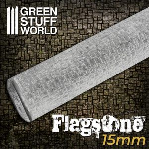 Green Stuff World   Rolling Pins Rolling Pin FLAGSTONE 15mm - 8435646503103ES - 8435646503103