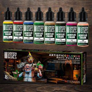 Green Stuff World   Acrylic Paints Paint Set - Basic - 8436574506198ES - 8436574506198