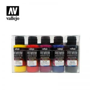 Vallejo   Premium Airbrush Colour AV Vallejo Premium Color - 60ml Set Candy (5 x 60ml) - VAL62104 - 8429551621045