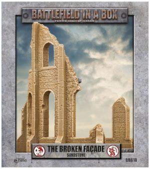 Gale Force Nine   Battlefield in a Box Gothic Battlefields - Broken Facade - Sandstone - BB618 - 9420020248977