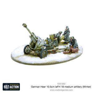 Warlord Games Bolt Action  Germany (BA) German Heer 10.5cm leFH 18 medium artillery (Winter) - 403012002 - 5060393705468