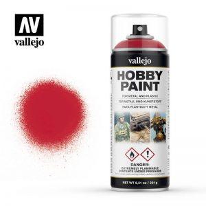 Vallejo   Spray Paint AV Spray Primer: Fantasy Color - Bloody Red 400ml - VAL28023 - 8429551280235