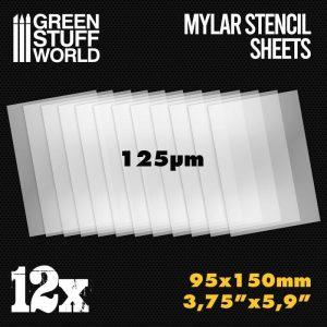 Green Stuff World   Stencils Small Mylar Stencil Sheets x12 - 8436574508536ES - 8436574508536