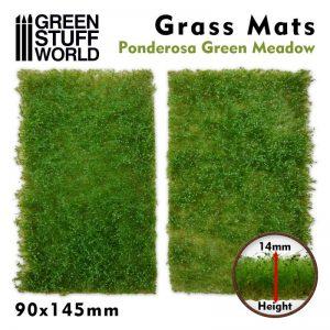 Green Stuff World   Grass Mats Grass Mat Cutouts - Ponderosa Green Meadow - 8436574508376ES - 8436574508376