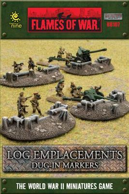 Gale Force Nine   Battlefield in a Box Flames of War: Log Emplacements Dug In Markers - BB107 -