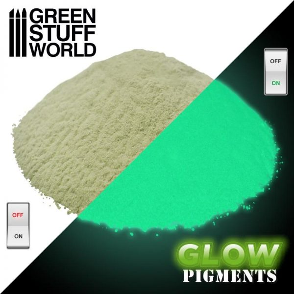 Green Stuff World   Glow in the Dark Pigments Glow in the Dark Pigment - REALITY YELLOW - 8436574507669ES - 8436574507669