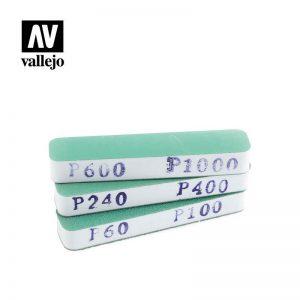Vallejo   Vallejo Tools AV Vallejo Tools - Flexisander Dual Grit x3 (90x19x12mm) - VALT04002 - 8429551930024