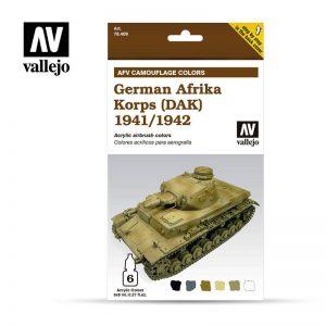 Vallejo   Paint Sets AV Armour Set - AFV German Afrika Korps 1941/42 (DaK) - VAL78409 - 8429551784092