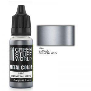 Green Stuff World   Acrylic Metallics Metallic Paint GUNMETAL GREY - 8436574502190ES - 8436574502190