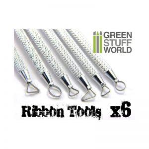 Green Stuff World   Green Stuff World Tools Mini Ribbon Sculpting Tool Set - 8436554362196ES - 8436554362196