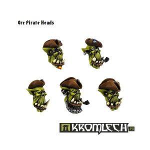 Kromlech   Orc Conversion Parts Orc Pirate Heads (10) - KRCB086 - 5902216110847