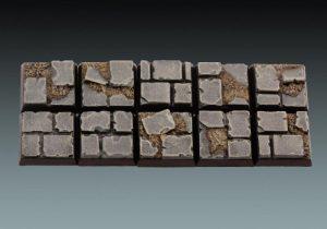 Baker Bases   Ruined Flagstones Flagstones: 20mm Square Bases (10) - CB-RF-02-20M - CB-RF-02-20M