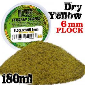 Green Stuff World   Sand & Flock Static Grass Flock 6 mm - Dry Yellow - 180 ml - 8436574508062 -