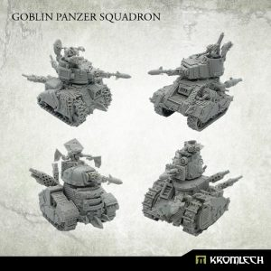 Kromlech   Orc Model Kits Goblin Scrap Tank Squadron (4) - KRM164 - 5908291070861