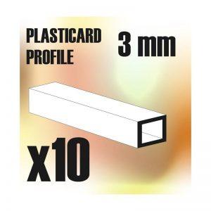 Green Stuff World   Plasticard ABS Plasticard - Profile SQUARED TUBE 3 mm - 8436554366163ES - 8436554366163
