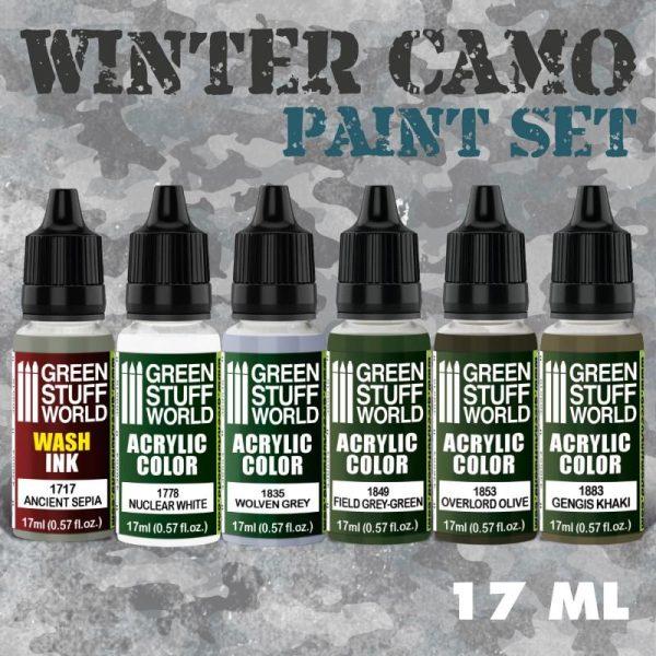 Green Stuff World   Paint Sets Paint Set - Winter Camo - 8436574507713ES - 8436574507713