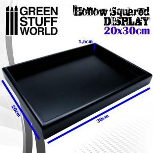 Green Stuff World   Display Plinths Hollow squared display 20x30 cm Black - 8436574503760ES - 8436574503760