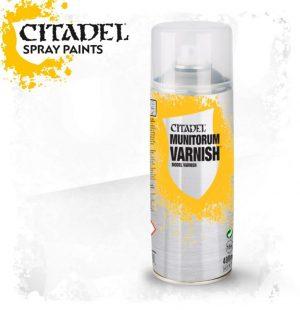 Games Workshop   Spray Paint GW Spray: Munitorum Varnish - 99209999058 - 5011921154487