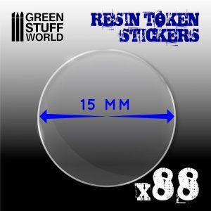 Green Stuff World   Infinity Tokens 88x Resin Token Stickers 15mm - 8436574503920ES - 8436574503920