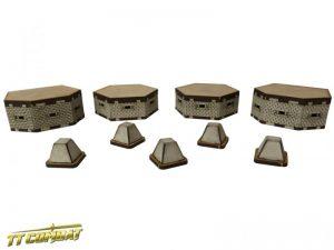 TTCombat   World War Scenics Bunkers and tank traps - WAR007 -