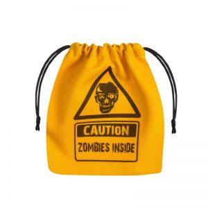 Q-Workshop   Q-Workshop Dice Zombie Yellow & black Dice Bag - BZOM101 - 5907699492190