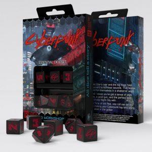 Q-Workshop   Q-Workshop Dice Cyberpunk Red Essential Dice Set (6) - SCPE06 - 5907699495719