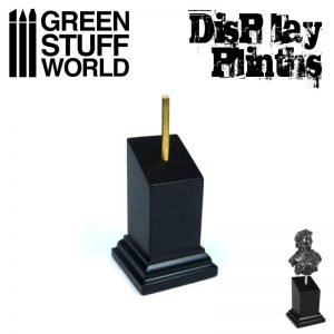 Green Stuff World   Display Plinths Tapered Bust Plinth 3x3cm Black - 8436574501643ES - 8436574501643