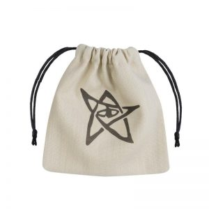 Q-Workshop   Dice Accessories Call of Cthulhu Beige & black Dice Bag - BCTH101 - 5907699490479