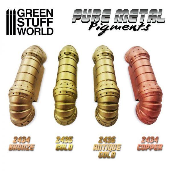 Green Stuff World   Pure Metal Pigments Pure Metal Pigments ANTIQUE GOLD - 8436574507959ES - 8436574507959