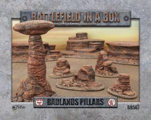 Gale Force Nine   Battlefield in a Box Battlefield in a Box: Badlands Pillars (Mars) - BB567 - 9420020229488