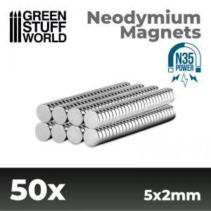 Green Stuff World   Magnets Neodymium Magnets 5x2mm - 50 units (N35) - 8436554365531ES - 8436554365531