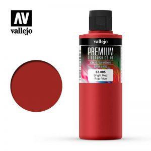 Vallejo   Premium Airbrush Colour AV Vallejo Premium Color - 200ml - Opaque Bright Red - VAL63005 - 8429551630054