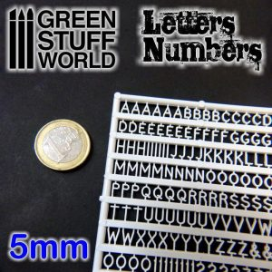Green Stuff World   Modelling Extras Letters and Numbers 5mm - 8436554364374ES - 8436554364374