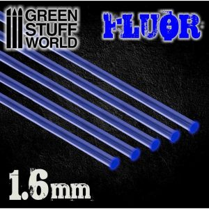 Green Stuff World   Acrylic Rods Acrylic Rods - Round 1.6 mm Fluor BLUE - 8436554367481ES - 8436554367481